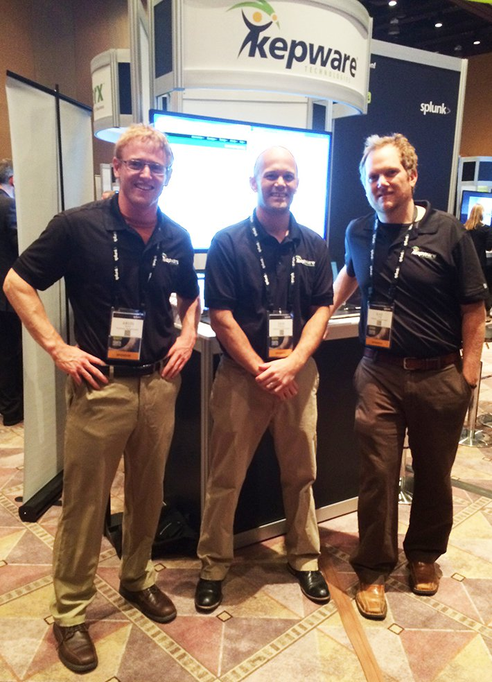 Aron Semle, Erik Dellinger, and Ray Labbe at .conf2014.
